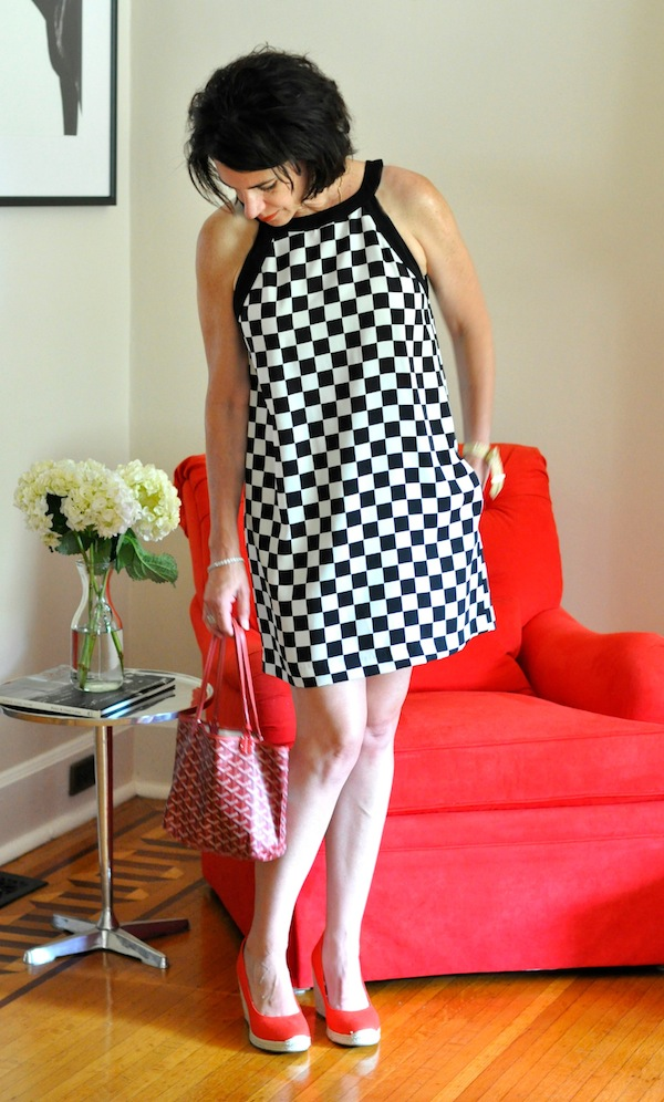 zara black and white dress