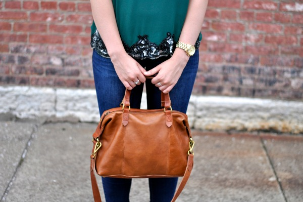 tan madewell purse