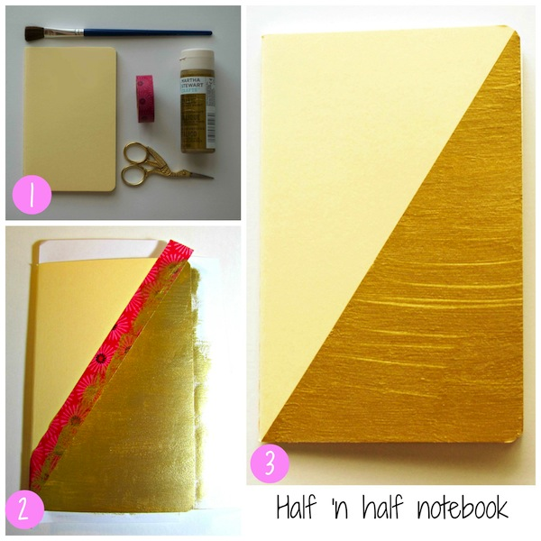 Gold Notebook DIY