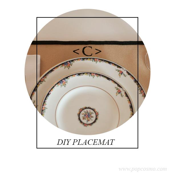 DIY Placemats | Popcosmo