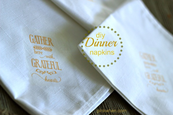 DIY dinner napkins on popcosmo