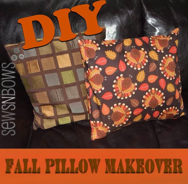 fall pillow makeover
