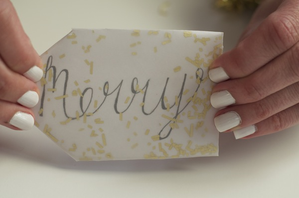 DIY confetti gift tags