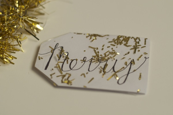 make your own confetti gift tags