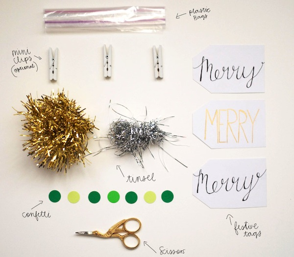 supplies for DIY gift tags