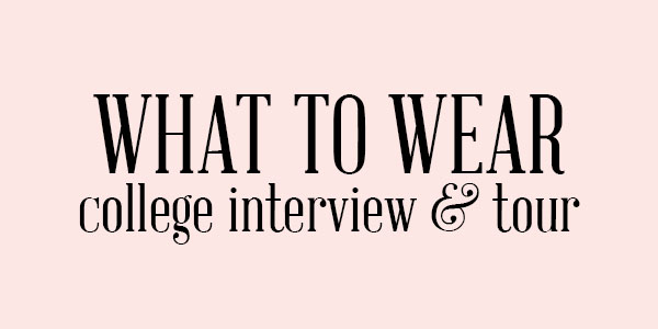 college interview and college tour