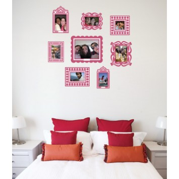 pink picture frames