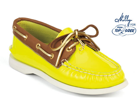 lime boat shoes