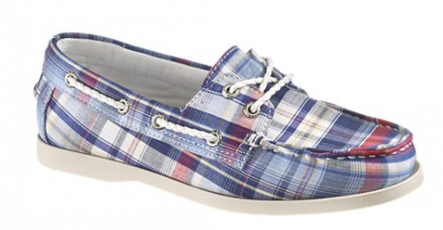 plaid women's boat shoes