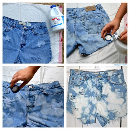 How To Make High Waisted Shorts Out Of Old Jeans - The Else