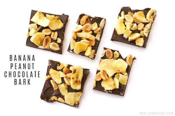 banana peanut chocolate bark