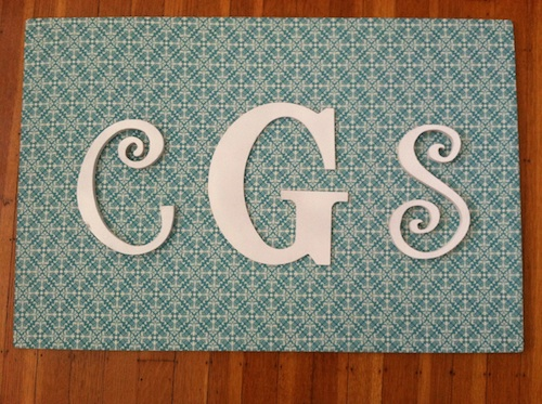 DIY monogram board