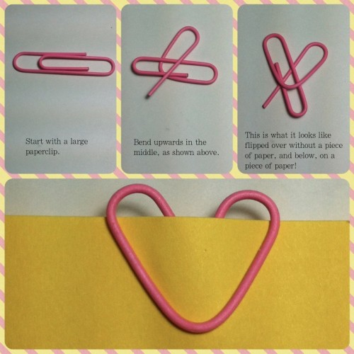 how to make heart paperclips
