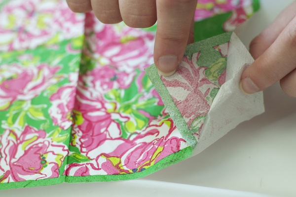 Step 1 Lilly Pulitzer napkins