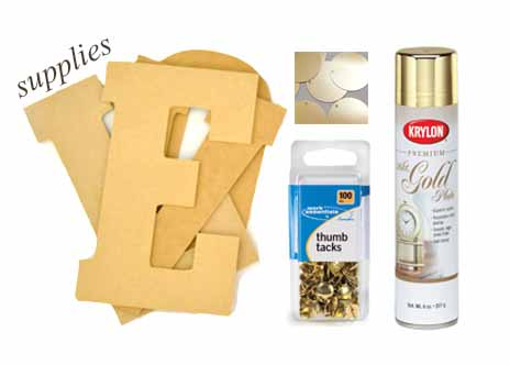DIY love sign supplies