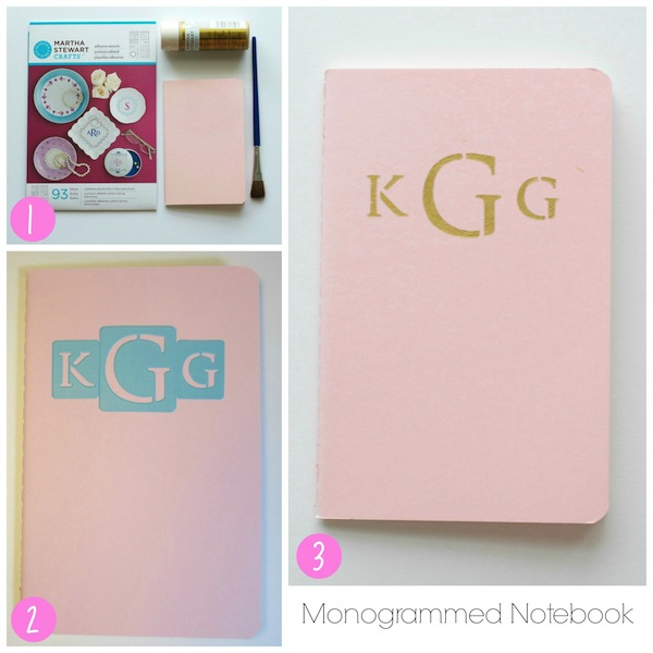 monogrammed notebook