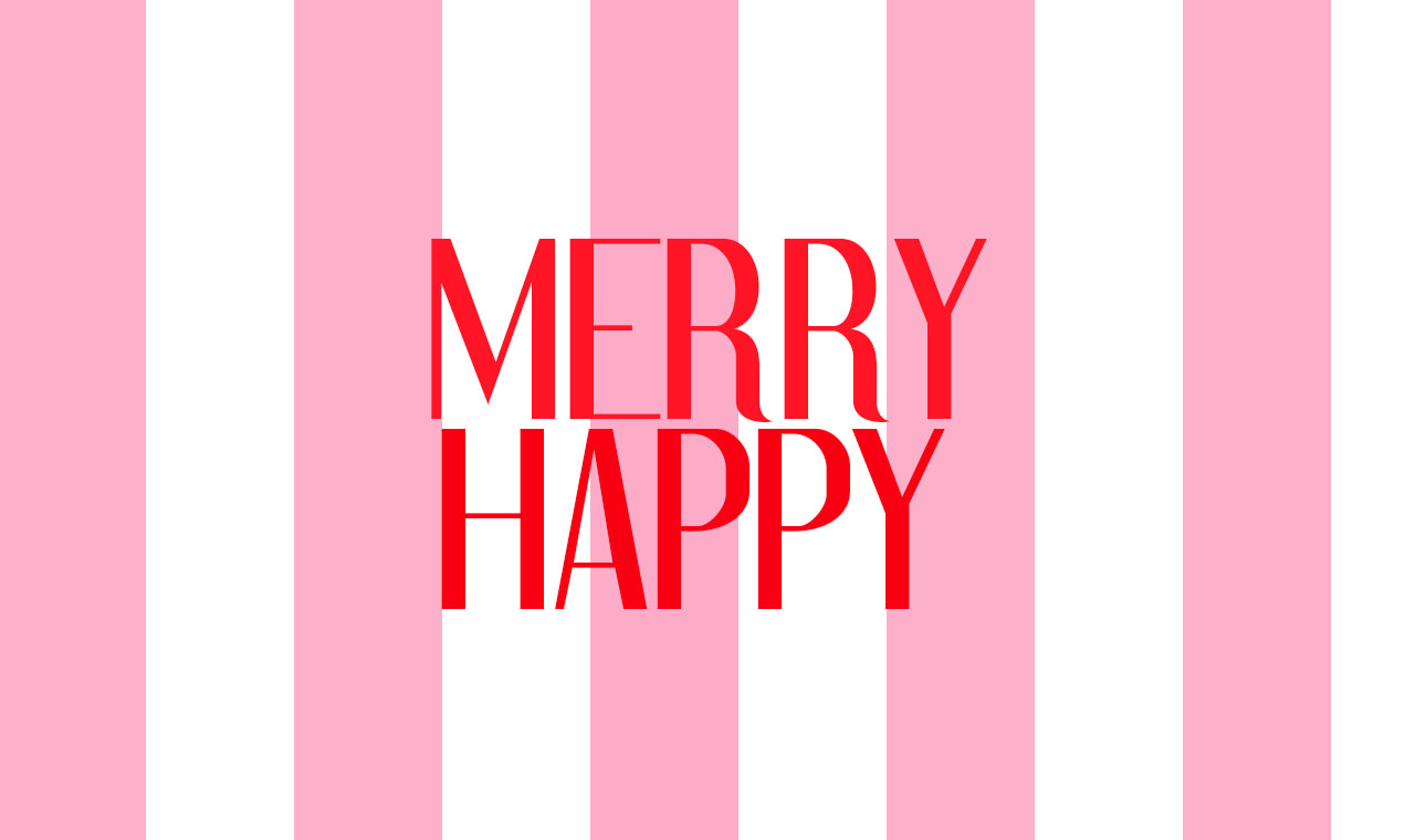 holiday desktop background {merry happy}