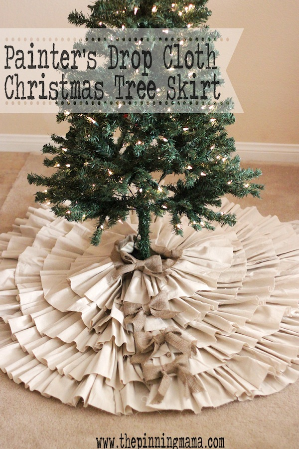 Dropcloth tree skirt1