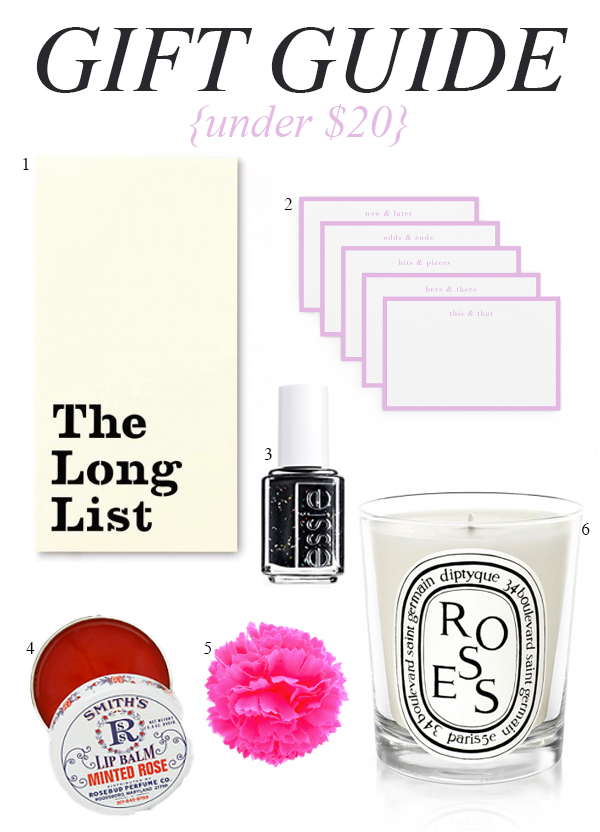 Under $20 gift guide