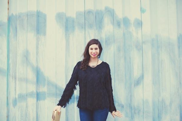 Ann Taylor Fringe Sweater