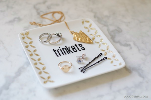 DIY jewelry tray