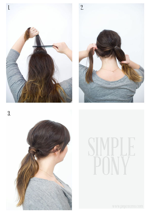 How to style a simple ponytail