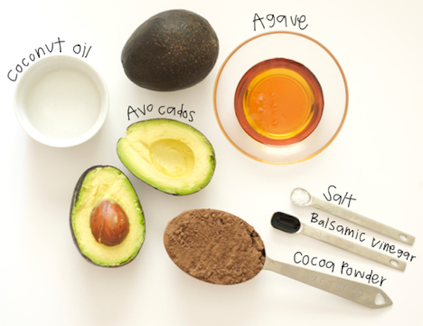 ingredients for raw chocolate pudding