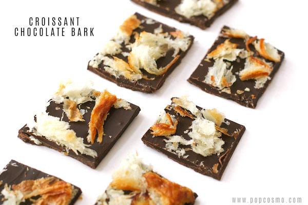 croissant chocolate bark
