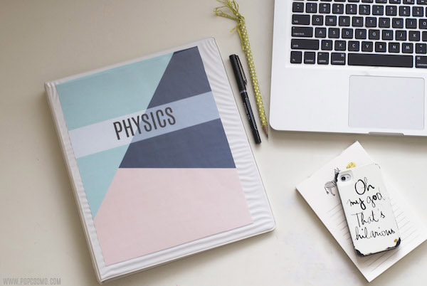 Simple White Book Cover : Free downloadable binder covers — popcosmo