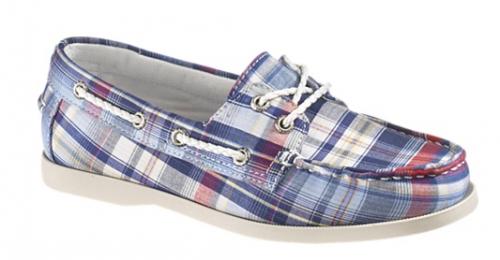 plaid women's boat shoes
