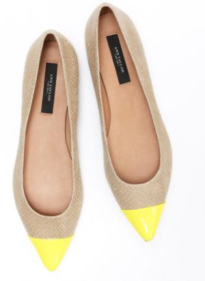 Ann Taylor colorblock ballet shoes