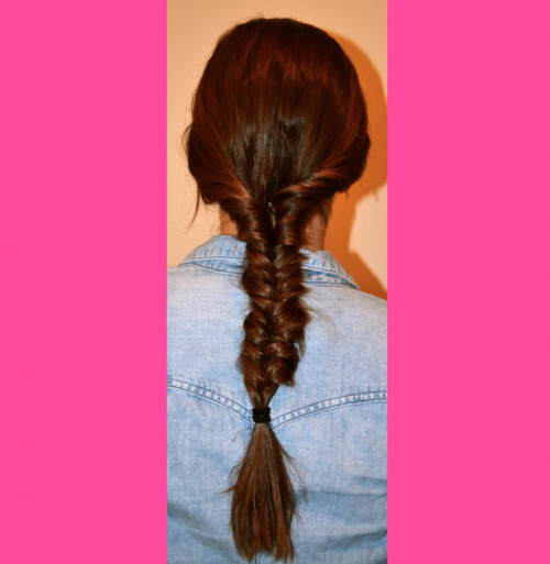twisty fishtail braid