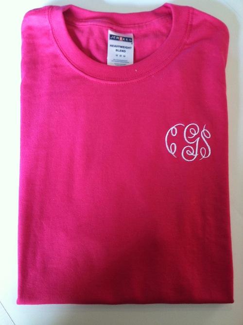 monogram tee shirt