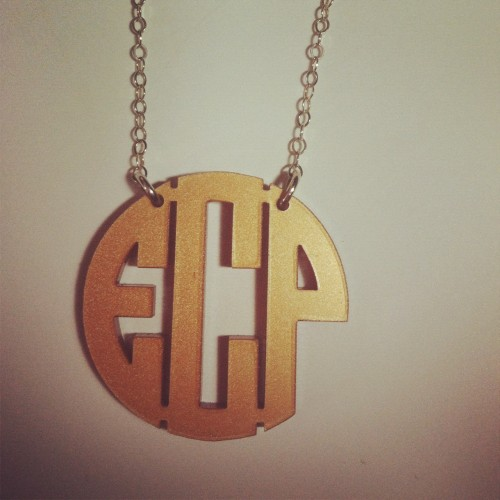 cute monogram necklace