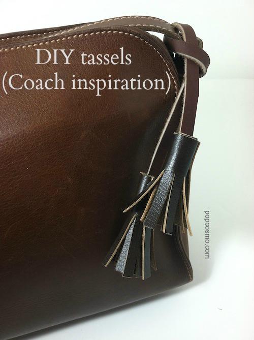 Coach tassels