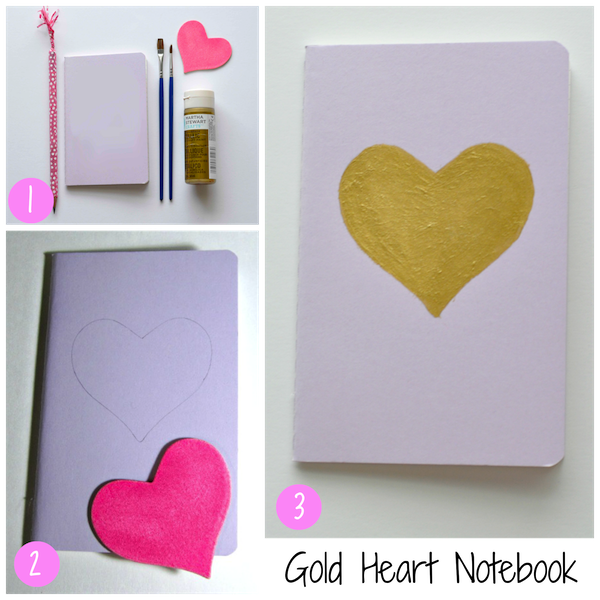 Gold Heart notebook