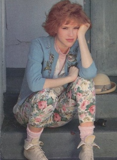 floral pants Molly Ringwald