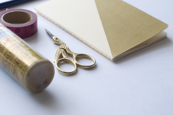 DIY gold notebooks