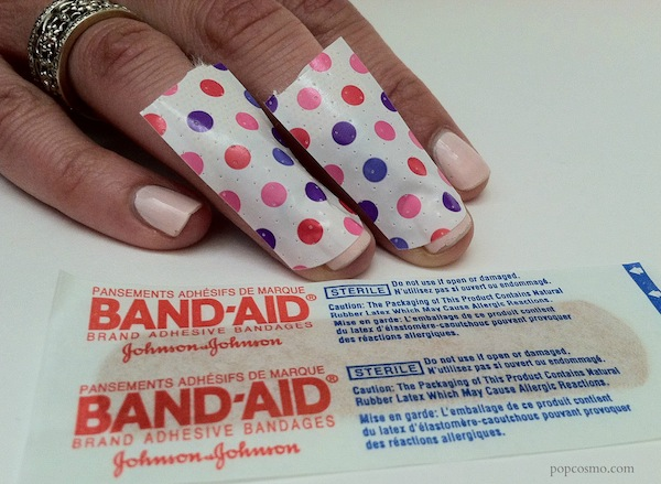 bandaid french manicure