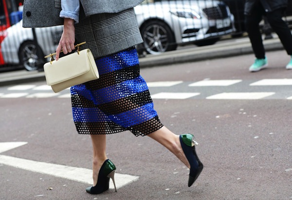 perforated skirt spring 2014 trend