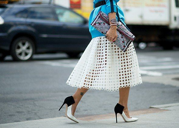 perforated skirt - spring trends 2014