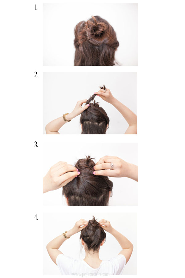 wrapped topknot