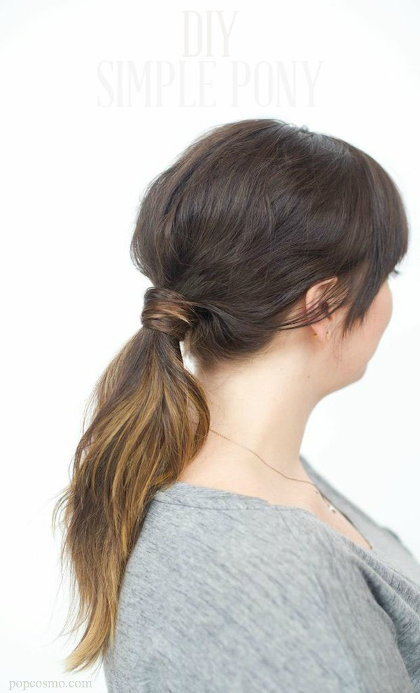 Low Ponytail how-to