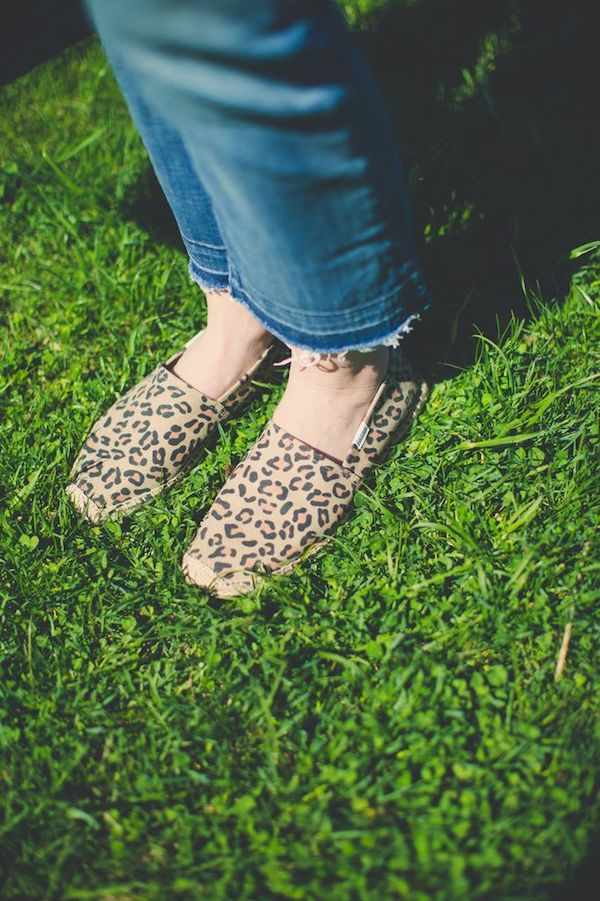 anthropologie pants + leopard espadrilles
