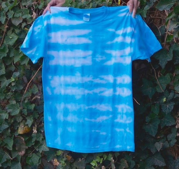 how to make a striped tie-dye