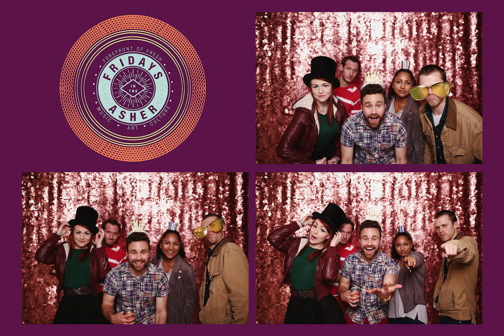 Photobooth Wedding Rental Fridays at the asher cheyenne wyoming concert Liz Osban photography photo booth weddings booth instant silver sequin backdrop.jpg