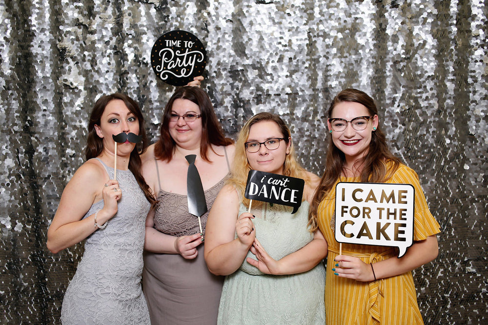 Photobooth photo booth rental wedding event instant unlimited print kiost white shell silver large sequin backdrop wedding cheyenne wyoming fort collins denver northern colorado liz osban photography1.jpg