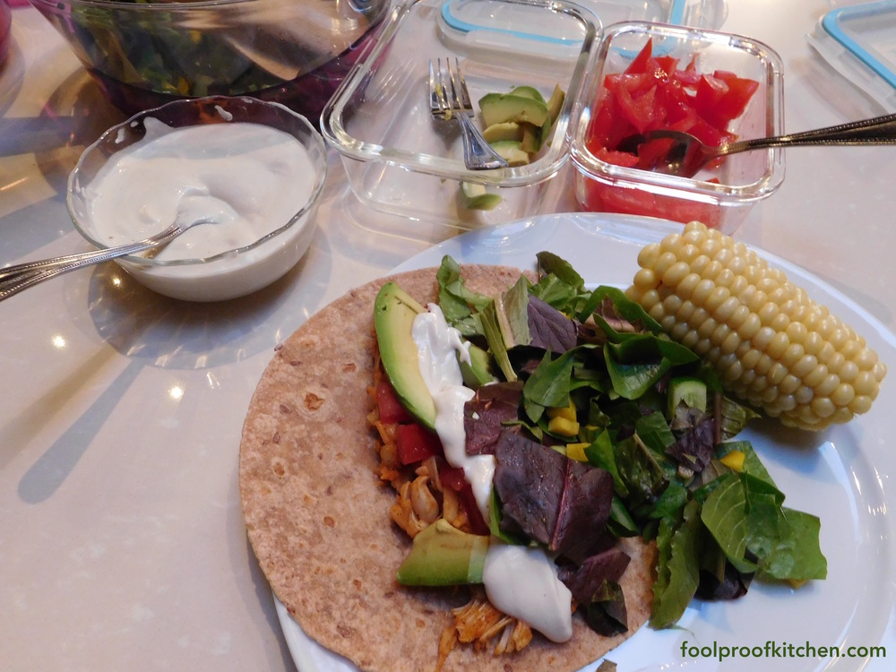 Jackfruit tacos with cashew cream