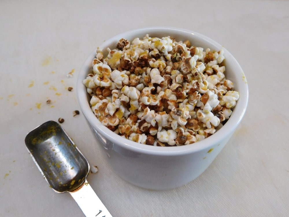 Popped Sorghum + Nutritional Yeast