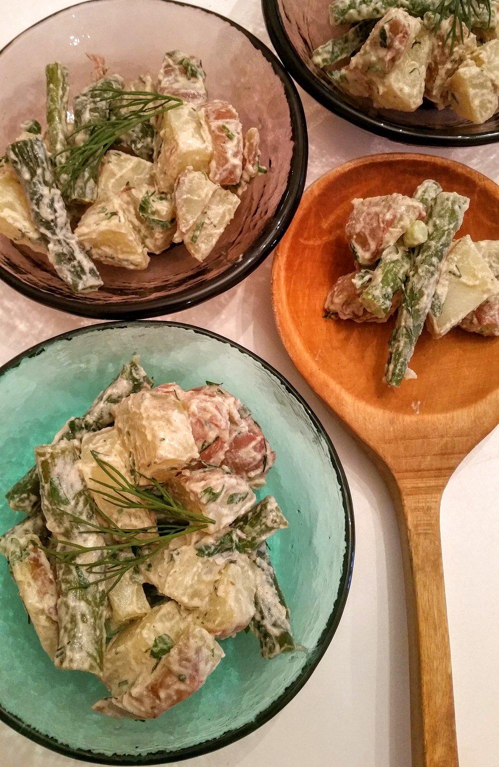 Potato Salad + Roasted Asparagus